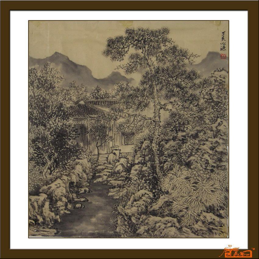 名家 林忠(林心源) 山水 - 中国山水画《苏州园林》